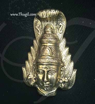 """Amman Face Mask With Nagam in Head For Goddess Mariamman Buy Now 9"""""""