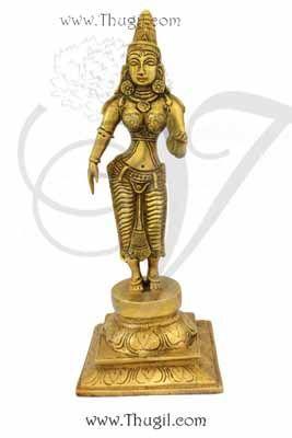 """12"""" Goddess SriDevi Statue Moorthi Devi Brass idol"""