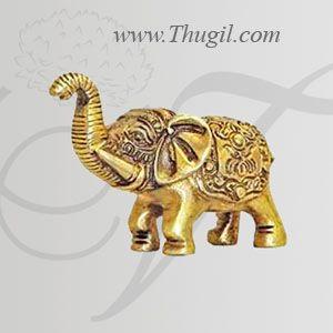 "Brass Elephant Statue Indian Haathi Buy Now 2"""
