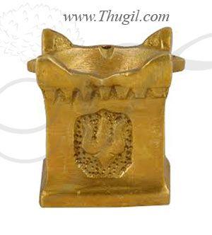 "2 "" Brass Diya,Oil lamp,in Tulasi Stand"