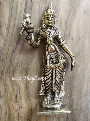 2.4 inches Goddess Meenakshi Statue of Brass Buy Online