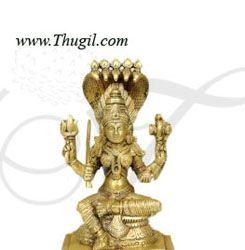 """Karumariyaman Mariamman South Indian Goddess Brass Idol 6"""""""