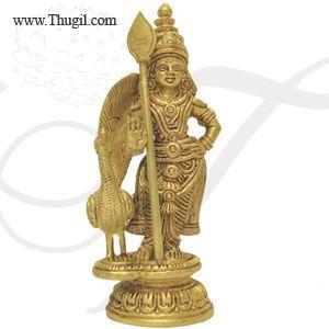 """KARTIKEYA  Murugan Murugar Brass Statue Buy Now 5.5"""""""