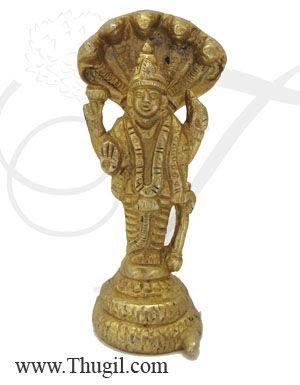 Vishnu God Brass Statue,Religious God brass Idol for Pooja,temple Puja Statue