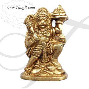 "2.5"" Lord Hanuman Statue Figurine Brass Anjaneya Sculpture Buy Now"