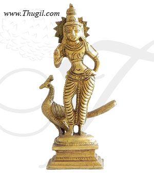Lord Murugar Brass Statue
