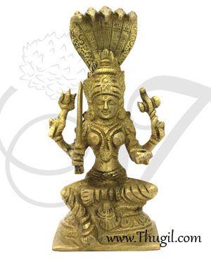 4'' Goddess Mariamman Brass idol