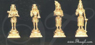 """4"""" Unique Nalvar Set (Appar, Sundarar, Manikay Vasagar and Sambandar)"""