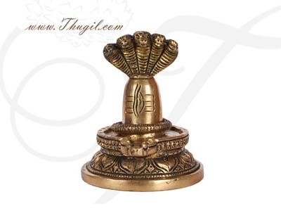 "4.5"" Brass Statue Hindu God Shiva Siva Lingam Buy Now"
