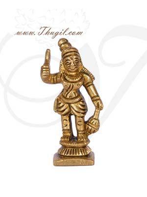 "3"" Madurai Veeran Ayyanar Brass Statue Great Warrior Of South India Statue Buy now"