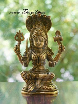 6.5'' Goddess Mariamman Brass idol