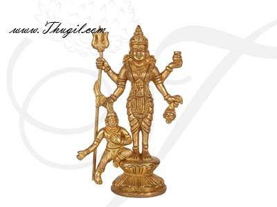 """5.5"""" Brass Statue Hindu Goddess Mahalasa Narayani / Mohini Avatar Kali Maa Statue"""