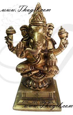 "4"" Lord Ganesha Brass Statue"