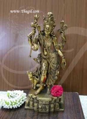 18 inches Lord Ardhanarishvara Shiva Parvathi in Brass Statue Idol Buy Now