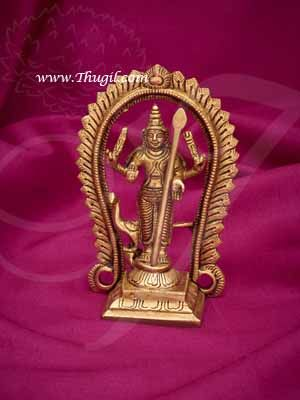 """4.5"""" KARTIKEYA  Murugan Murugar Brass Statue Buy Now"""