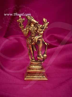 "5.2"" Brass Varaha Lakshmi Statue Mahavishnu Goddess BhumiDevi Idol Buy Now"