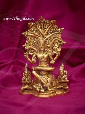"""9"""" Lord Dakshinamurthy ThasnaMurthi Brass Statue Buy Online"""