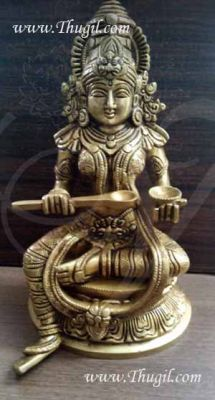 Brass Annapurna Available Hinidu Devi Statue from India 10 inches