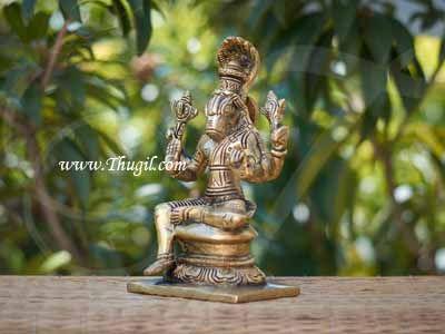 """6"""" Lord  Varaha Varhar Statue Moorthi Brass idol - Avatar of Lord Vishnu"""