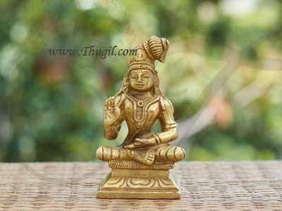 4 inches Brass Statue of Swami Nammazhwar Buy Now