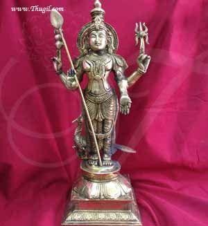 18 inches Lord Murugar Karthikeya Brass Statue Buy Now