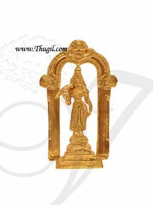 4.5 Inch Goddess Meenakshi Statue of Brass Gold Polish buy online