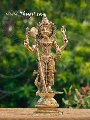 "Lord Murugar Karthikeya Brass Statue Buy Now 12"""