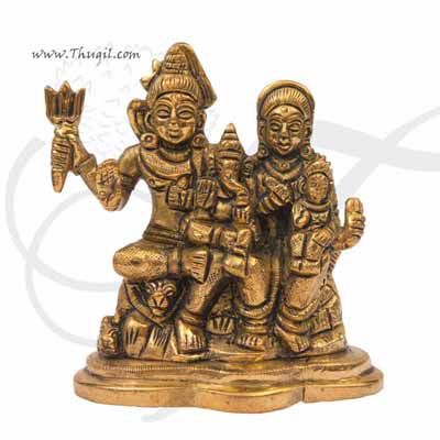 """Hindu Lord  Shiva Family in Brass Buy Now 3.8"""""""