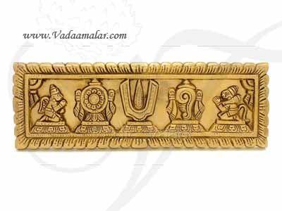 """Shanku Chakra Thiru Namam Wall Hanging Door Decorations Buy Now 12"""""""