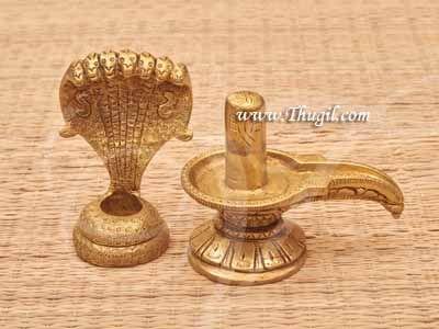 "Brass Statue Hindu God Shiva Siva Lingam Buy Now 5"""