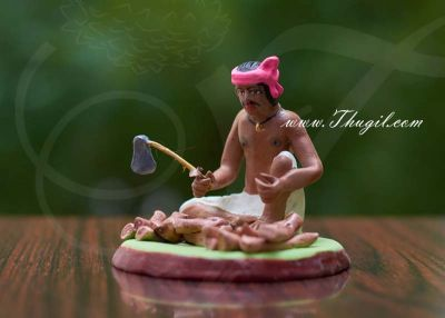 India Wood Cutter Miniature Clay Doll Figurine Golu Doll Bommai Navarathatri Buy Online