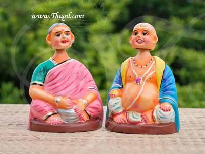 "Thanjavur Traditional Dolls Thalaiyatti Bommai Chettiyar Dancing Doll Buy Online 7"""