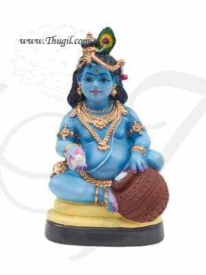 "Butter Krishna Golu Doll Bommai Navarathatri Paper Mache 12"" Buy Online"