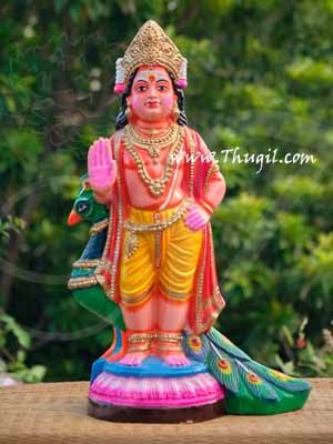 "Murugar Paper Mache Bommalu Bomai Doll from India Buy online 17"""