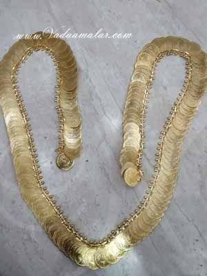 5 feet Coin Necklace Kasumalai Kasumala Long Lakshmi Necklace Kuchipudi Jewelry