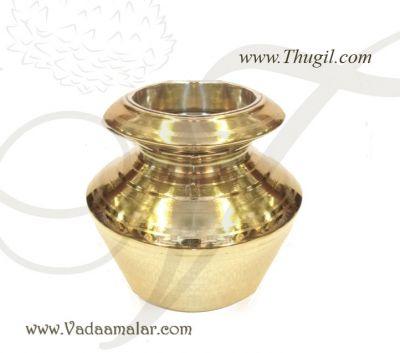 """5"""" Brass Kalasham Pal Kudam Sombu for Holi water Buy Now"""