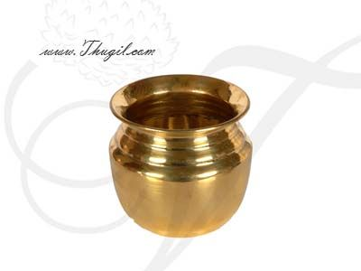 "3.5"" Plain Brass Kalasham sombu for Holi water"