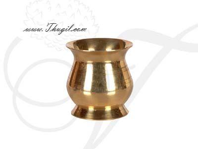 "2.4"" Plain Brass Kalasham sombu  for Holi water"