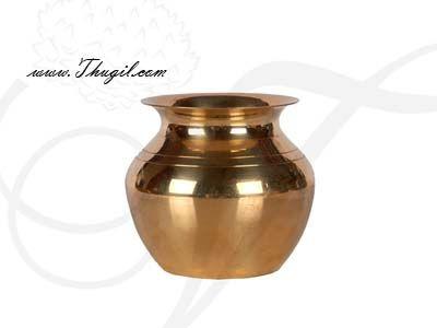 "3.2"" Plain Brass Kalasham sombu  for Holi water"