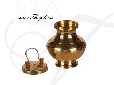 "3"" Brass Kalasham Sombu for Holi water"