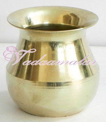 """4.5"""" Simple Brass Kalasam sombu for Holi water"""