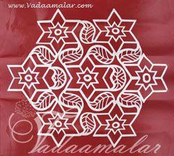 Sticker Kolams Rangoli Traditional Artistic Designs in South India