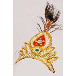 Lord Krishna Gopal Crown Accessories for Deity Kids Children Fancy Dress