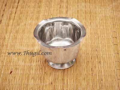 """2.3"""" Stainless Steel Sandal Wood Paste Bowl Chandanakinnam Buy Now"""