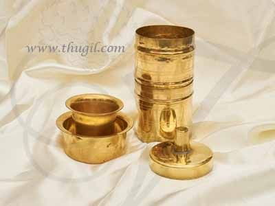 """Brass Traditional South Indian Filter Coffee Drip Maker Buy Now 7"""""""