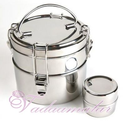 Stainless Steel 2 tier Tiffin Box Small containers