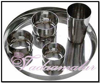 Indian Stainless Steel Thali Set