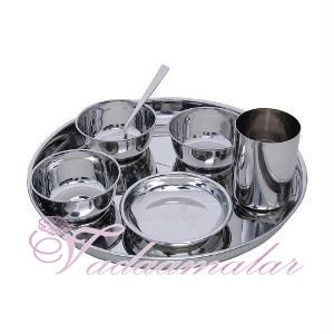 Seven Piece Stainless Steel full Thali Set