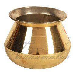 5 Liters Brass Cooking Utensil Milk Boiling Pongal Pot Panai Buy now