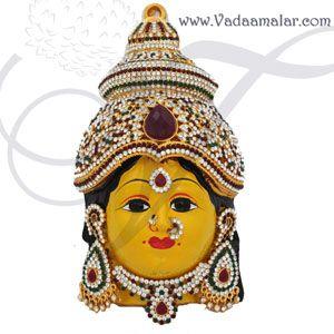 Goddess Lakshmi Mask Vara Laksmi Face with Decorations